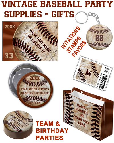 Vintage Baseball Party Supplies